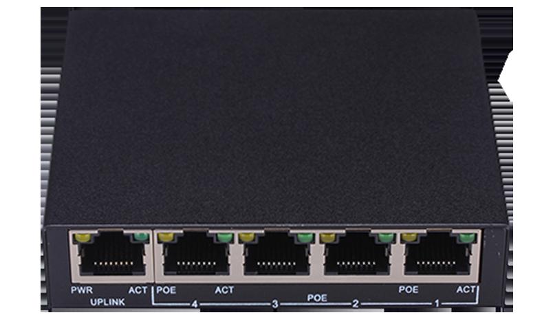4+1 Port 100Mbps PoE Switch