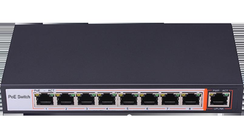 8+1 Port 100Mbps PoE Switch